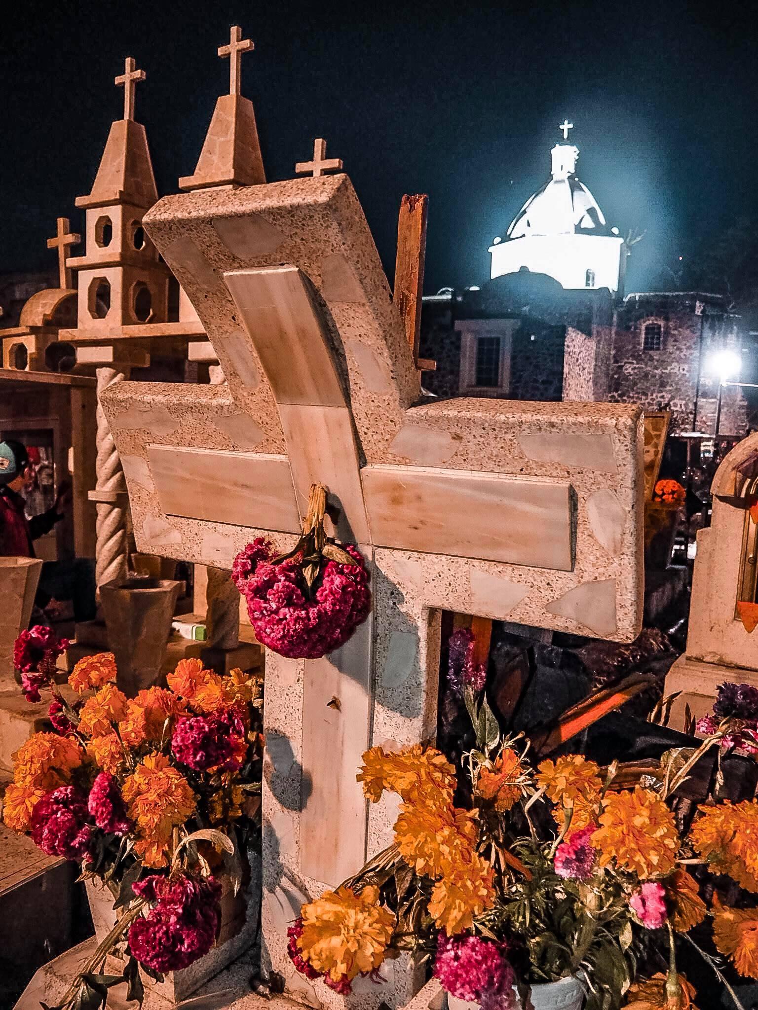 cimetiere dia de los muertos au mexique