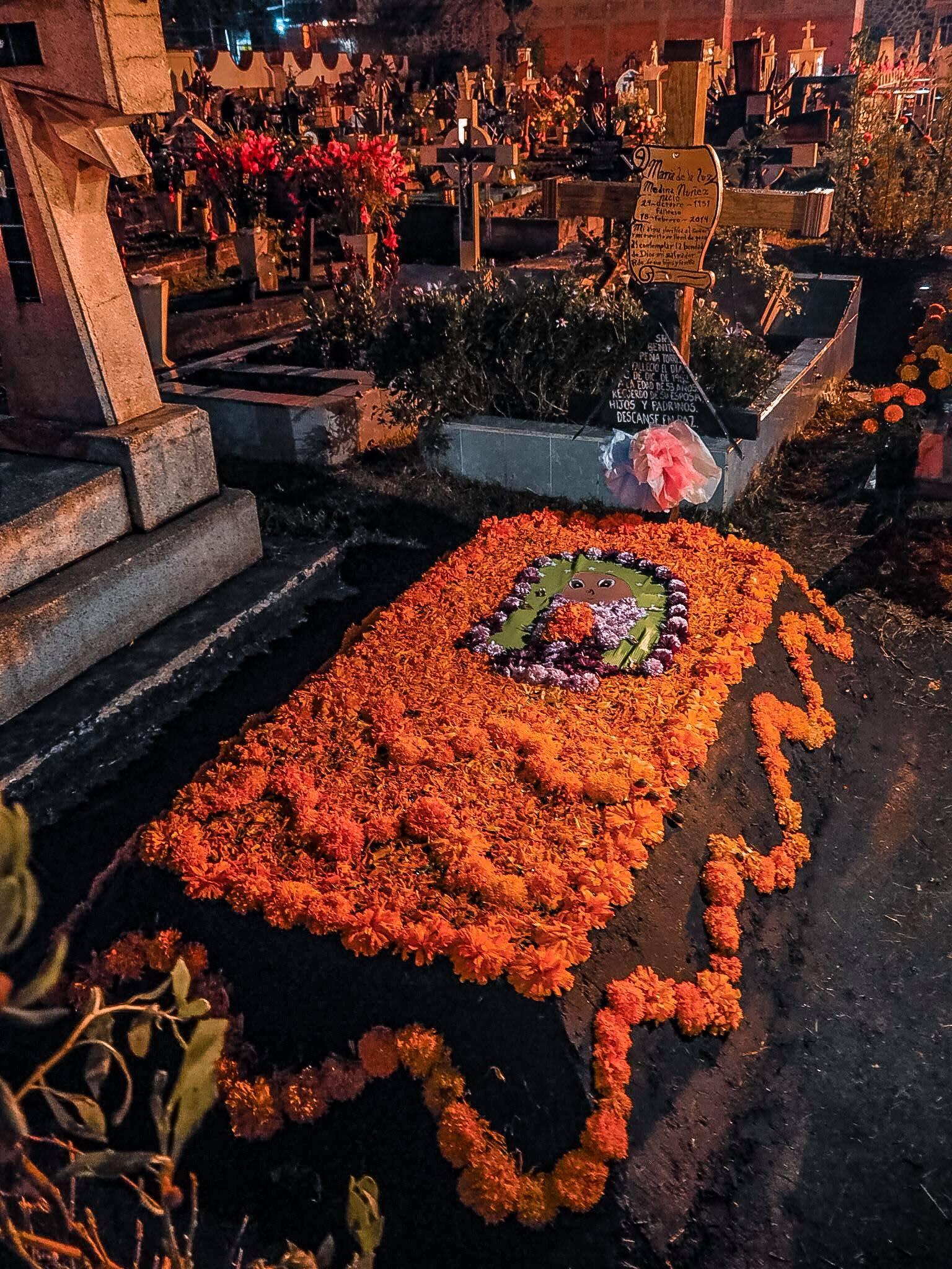 cimetière el dia de los muertos mexique
