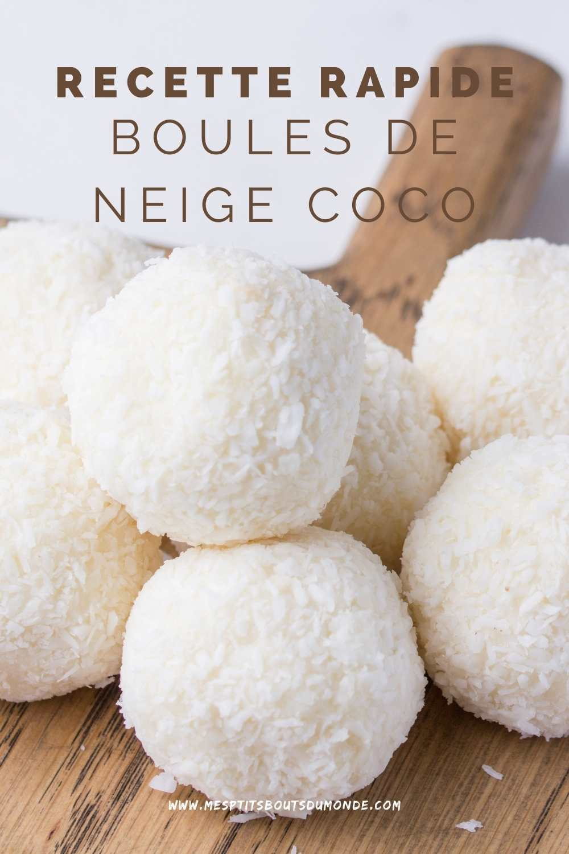 recette rapide boules de neige coco