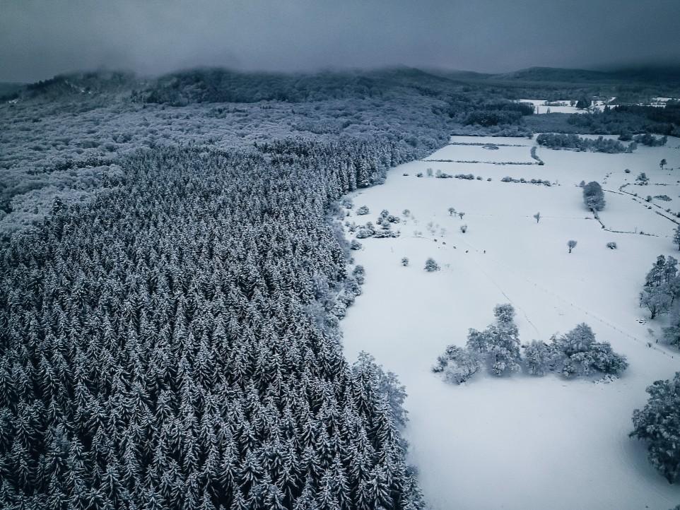 balade hiver neige Auvergne