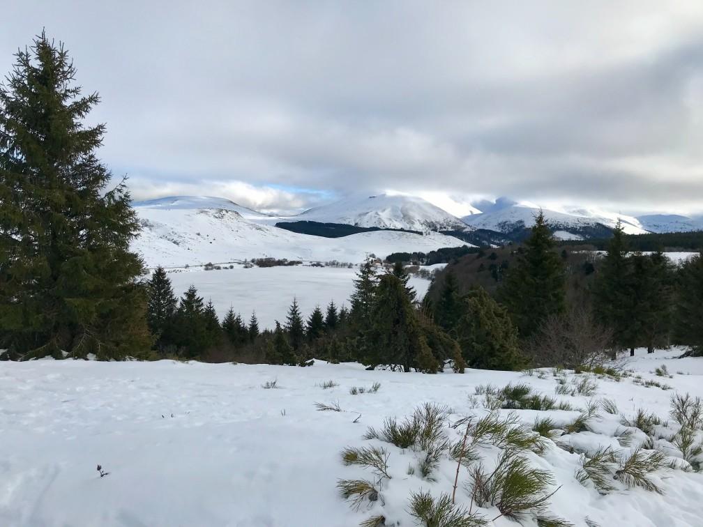balades neige Auvergne
